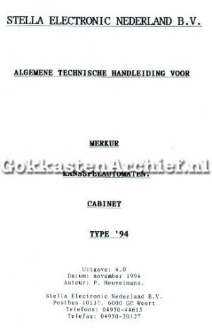 Stella Merkur technische handleiding